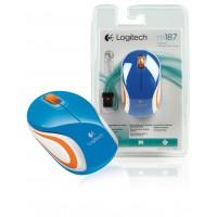 Logitech M187 mini souris sans fil blue