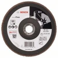 BOSCH Disque a lamelles X581 Inox - Grain 60 - Ø 180 mm