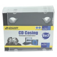 Aquip double CD cases 5 pieces