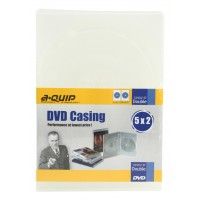 Aquip 13mm DVD case double 5 pieces