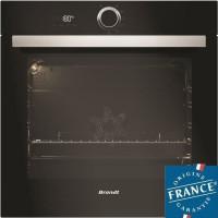 BRANDT BXP5560B - Four électrique encastrable multifonction chaleur tournante - 73L - Pyrolyse - A+ - Noir