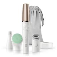 BRAUN FaceSpa Pro913 Epilateur visage - 3accessoires - Blanc et bronze