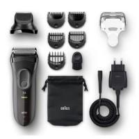 BRAUN SERIES 3 SHAVE&STYLE 3000BT Rasoir électrique avec tondeuse a barbe - Noir