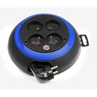 BRENNENSTUHL Enrouleur ménager 3 m Design-box CL-S noir/bleu H05VV-F 3G1.0