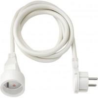 BRENNENSTUHL Rallonge électrique 3m avec fiche plate (câble H05VV-F 3G1,5, IP20), Blanc