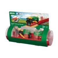 BRIO World - 33892 - Train a Vapeur et Tunnel