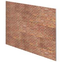 BRIQUES Tete de lit style industriel effet mur de briques - L 160 cm