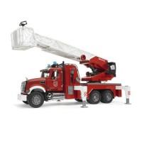BRUDER - 2821 - Camion Pompier MACK Granit avec Echelle et Pompe a Eau - Echelle 1:16 - 63 cm