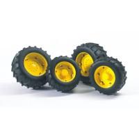 BRUDER - Accessoires: Roues avec jantes jaunes serie 2000 - 10,4 cm
