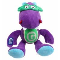 BUBIMEX Agent hippo, peluche et balle de tennis - 33 cm - Pour chien