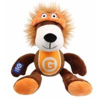 BUBIMEX Agent lion, peluche et balle de tennis - 33 cm - Pour chien