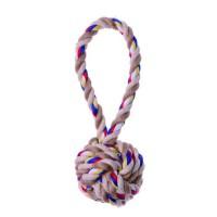 BUBIMEX Jouet corde balle poignée courte - Pour chien