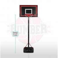 BUMBER Panier de Basket Phoenix réglable - 305cm Basketball