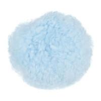 C.S.O Rond de muserolle croisée en mouton véritable pour cheval - Bleu ciel