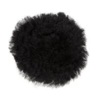 C.S.O Rond de muserolle croisée en mouton véritable pour cheval - Noir