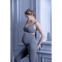 CACHE-CoeUR Leggings de Maternité Illusion Gris