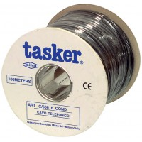 Tasker telephone cable 6 conductors on reel 100 m black