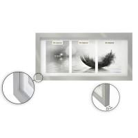 Cadre photo multivues - 3 vues - 13 x 18 cm - Gris argenté