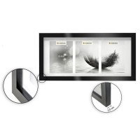 Cadre photo multivues - 3 vues - 13 x 18 cm - Noir