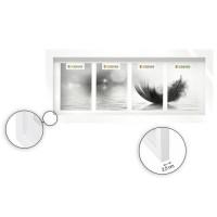 Cadre photo multivues - 4 vues - 10 x 15 cm - Blanc