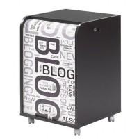 Caisson de bureau 2 tiroirs 47,2 cm - Noir Blog