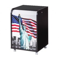 Caisson de bureau 2 tiroirs Contemporain - Noir New York - L 47,2 cm