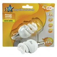 HQ ampoule à économie d'énergie E14 5W spirale
