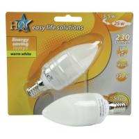 HQ ampoule à économie d'énergie bougie E14 5W