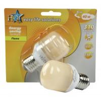 HQ ampoule à économie d'énergie déco boule/T45 E27 8W