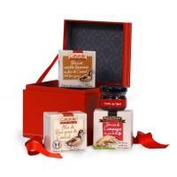 CANARDIE Coffret La Surprise, contient 4 produits de terroir dont un bloc de foie gras
