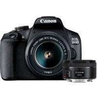 CANON EOS 2000D Appareil photo Reflex 24,1 Mpx + 2 Objectifs EF-S 18-55 IS II & EF 50mm F/1,8 STM