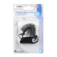 CAO CAMPING Cadenas cable accordéon - 6,4 x 2,5 x 0,8 cm