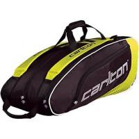 CARLTON Sac badminton - Pour 9 raquettes - Noir et jaune