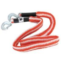 """CARPOINT Câble de remorquage 0178749 + crochets de sécurité """"stretch"""" - 1.5-4 m - 2800 kg"""