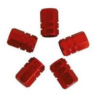 CARPOINT Jeu de 5 Capuchons de valves piston universel - Rouge