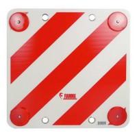 CARPOINT Plaque de surcharge avec catadioptre - 50 x 50 cm - Blanc et rouge