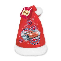 CARS Bonnet de noël velours 39 cm rouge