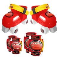 CARS Set Patins a Roulettes ajustables 23 a 27 et Protections - Disney