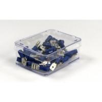 CARTEC 50 cosses. Mâle+femelle/plate/isolées bleu