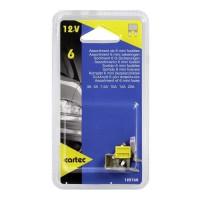 CARTEC 6 mini-fusibles assortis 3 a 20A