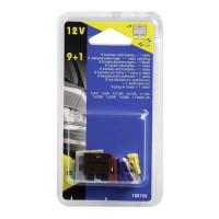 CARTEC 9 fusibles enfichables + 1 radio