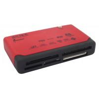 Amarina lecteur de cartes mémoires multiformats rouge