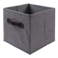 CASAME Cube en Linen - 28 x 28 x 5 cm - Gris