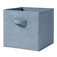 CASAME Cube pliable en intissé - 28 x 28 x 5 cm - Bleu canard