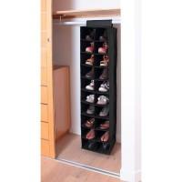 CASAME Etagere Tissu pour rangement 20 paires chaussures - 50 x 30 x 30 cm - Noir
