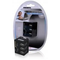 LECTEUR DE CARTES + HUB USB 2.0 3 PORTS TOUT-EN-1 KONIG