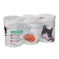 CASINO Lot de bouchées de viandes en sauce - Pour chat adulte