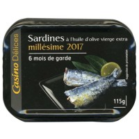 CASINO Sardines Millésime 2017 115g