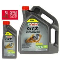 CASTROL Huile moteur GTX 10W40 - 5 litres + 1 litre
