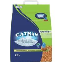CATSAN Naturelle plus Litiere végétale 20 L - Pour chat